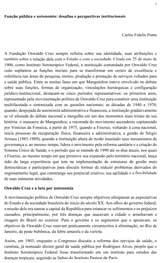 VII Congresso Interno - Contribuição COC - Função pública e autonomia